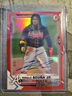 2021 Bowman The National Convention RONALD ACUNA Jr. Red Foil AUTO card #'d 2 5