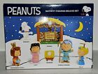 Peanuts Nativity Figures Deluxe Set Charlie Brown Jesus Lucy Snoopy Lucy Manger