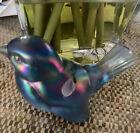 Fenton Glass Bird hand painted and signed