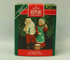 1990 Hallmark Keepsake Mr. and Mrs. Claus Popcorn Party 5th in Series Ornament