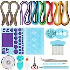 MDLUU Paper Quilling Kit with 960 Strips 11 Pieces Blue Quilling Tools Quillin