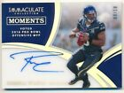 RUSSELL WILSON 2018 IMMACULATE COLLECTION MOMENTS AUTOGRAPH SEAHAWKS AUTO #03 10