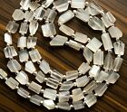 Natural Gem Whit Flash Moonstone Faceted Nuggets 18 Finished Necklace 175Cts