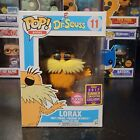 Funko Pop! Books Dr. Seuss Flocked Lorax #11 2017 SDCC Exclusive With Protector