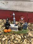 Lemax Spooky Town Halloween Village Accessory - GRIM REAPER WAITS PATIENTLY-box