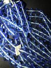 Vintage HANK OF 280 Faceted Blue Glass BICONE Western Germany Beads 10mm