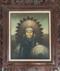 Kenneth Su Oil Painting PortraitNative American ChiefAmerican IndianWestern
