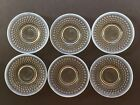Set of 6 Moonstone Hobnail Opalescent Edge Glass Plates 6 3 8 inches