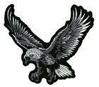 Silver Eagle Patch  Patriotic  Embroidered Iron On  Large by Nixon Threa