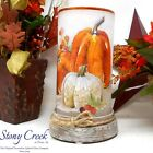 Fall Dcor WOW Tall Glass Hurricane with Base SDF1287 A artwork by Stony Creek