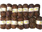 New Lot 14 Peacock Yarn American Hand Spun Acrylic Polyester Skeins Multicolor