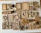 Wood Mounted Rubber Stamps Southwest Oriental  More Assorted Bundle of 33