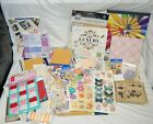 Hugh Lot Scrapbooking Stickers Paper  Misc items Open Packages New  Used