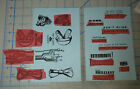 Set of Twelve Unmounted Rubber Stamps with Dr Who Doctor Who Theme