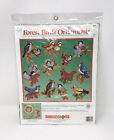 Vintage Counted Cross Stitch Forest Birds Christmas Ornaments Kit By Dimensions