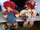 RAGGEDY ANN AND ANDY CRAFT WOODEN HANDMADE DOLLS SITS ON SHELF END 18 VERY CUTE