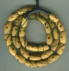 African Trade beads Vintage Venetian rare old glass yellow fancy eye beads