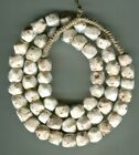 African Trade beads Vintage Venetian old glass white cornerless cubes