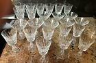 Vintage Waterford Rosslare Crystal Glasses Complete Service For 8 SIGNED Exc