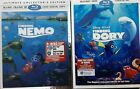 Finding Nemo 5 Disc Ultimate Edition Blu ray 3D Blu ray DVD + Dory LIKE NEW