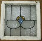 OLD ENGLISH LEADED STAINED GLASS WINDOW Simple Design Facetted Glass 20 x 20