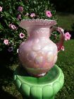 Fenton Apple Tree Pitcher Pink Dusty Rose Overlay Glass Museum Collection QVC