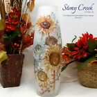 Fall Dcor Artistic Twist with Sunflowers Tall Glass Vase BNS1209 by Stony Creek