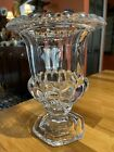 large crystal clear glass urn 9 inches