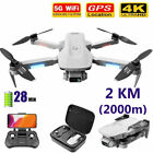 4DRC F8 GPS Drone with 4K FHD Camera Brushless RC Quadcopter 2 Battery