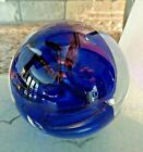 Signed Fred WILKERSON Studio Art Glass Abstract Paperweight 2007