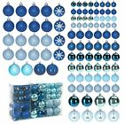 Blue Decorative Ornaments For Christmas Tree Decorations 100 Set Clearance Lot