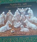 NATIVITY Set 13 Piece Hand Painted Porcelain Detailed Beautifully NEW
