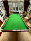 Vintage green SLATE BED Snooker Billiards table 6ft Burroughes  Watts