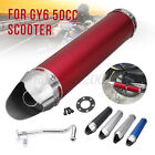 Aluminum Racing Exhaust Muffler Pipe Gasket For 4 Stroke Scooter GY6 50cc Red