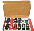 LOT OF 12 KINSMART DIE CAST METAL COLLECTIBLE TOY CARS SCALE 136 POLICE CAR