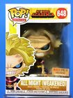 Funko Pop Animation 648 All Might Weakened GITD Box Lunch Exclusive