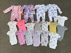 Preemie Baby Girl Clothing Lot 18 Child of Mine Carters Sleepers Bodysuits NWT