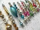 GORGEOUS Set Of 16 ALL Vintage MERCURY GLASS Bead TINSEL Icicle ORNAMENTS
