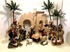 Members Mark 2005 Complete 16 Piece Hand Painted Porcelain Nativity Set