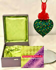 Swarovski crystals Expressions from the Heart holiday blown glass ornament