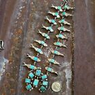 Sterling silver turquoise squash blossom Federico Jiminez Native American Indian