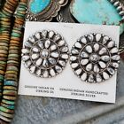 Sterling silver huge turquoise cluster bolo Native American Indian
