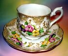 Handpainted Floral Royal Albert Tea Cup and Saucer Set