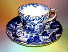 Stunning Royal Crown Derby Blue Oriental Tea Cup and Saucer Set