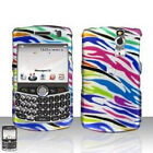 S Rainbow Zebra Hard Case Cover BlackBerry Curve 8330