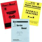 FARMALL A & AV SERVICE OPERATORS OWNERS PARTS MANUAL IH