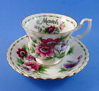 Royal Albert Flower of the Month March Anemones Tea Cup and Saucer Set