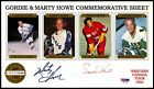 GORDIE HOWE AUTO SIGNED RED WINGS MARTY AEROS COMMEMORATIVE PSA DNA CARD SHEET
