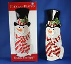 Fitz and Floyd Snowman Snack Therapy Serving Tray NIB