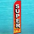 SUPER SALE Advertising Feather Swooper Banner Ad Flag